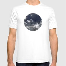 clouds White Mens Fitted Tee MEDIUM