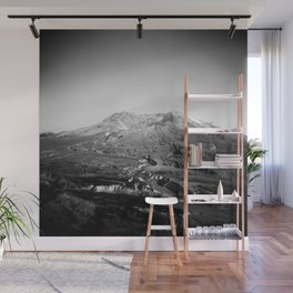 Mount St. Helens in Black and White - Holga Photograph Wall Mural
