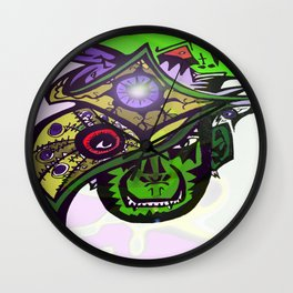 Demons and Eyes Wall Clock