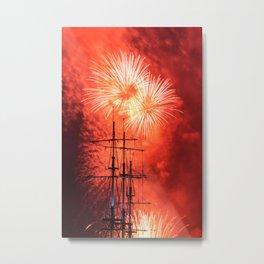 Firework in honor of the Navy. Metal Print