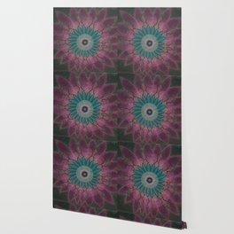 Beaded Floral Mandala Pinks Wallpaper