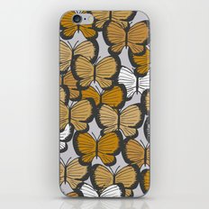 Golden butterflies iPhone & iPod Skin