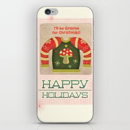 Gnome for Christmas iPhone Skin
