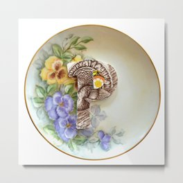 Love Letters to Dinnerware - P Metal Print