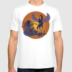 Medusa of Music meets Lilith MEDIUM Mens Fitted Tee White