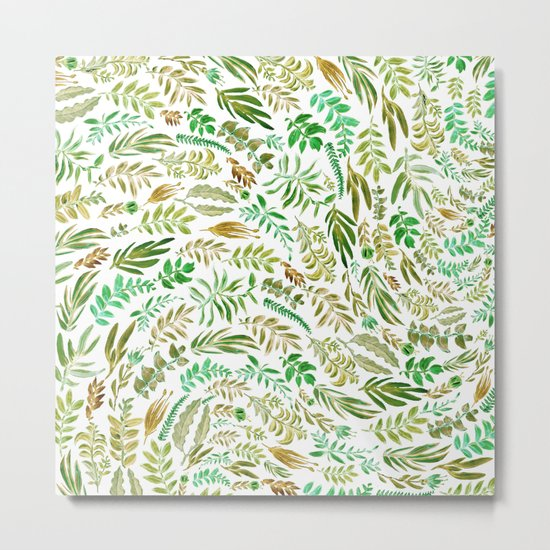 green wave of nature Metal Print