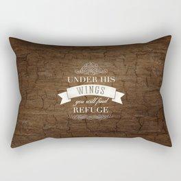 Under His Wings - Psalm 91:4 Rectangular Pillow