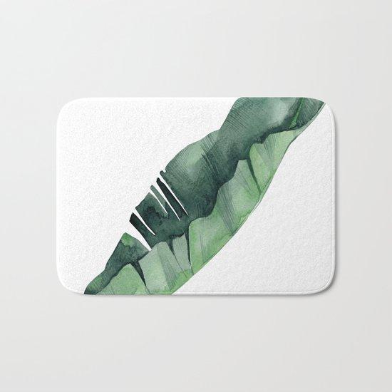 Banana Leaf Green Bath Mat