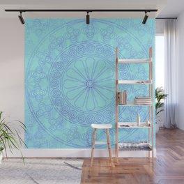 Mandala blue Wall Mural