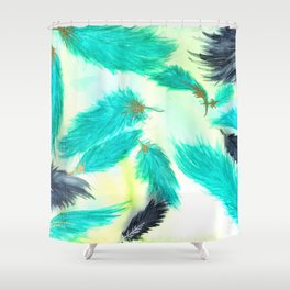 Wicked Green Skies Shower Curtain