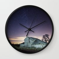 the walking dead Wall Clocks featuring Walking Dead by Race Jones