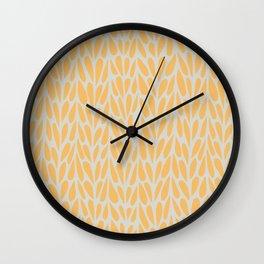Citrus summer pattern yellow Wall Clock