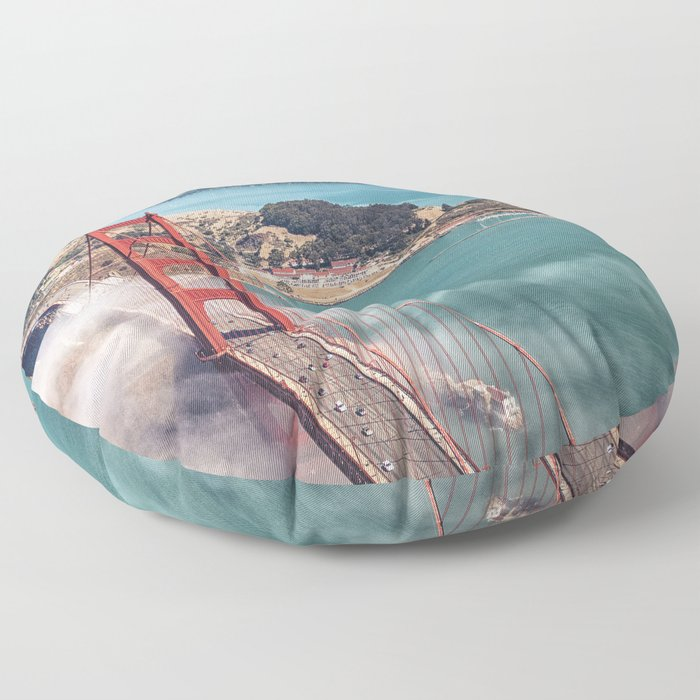 golden gate bridge in san francisco Floor Pillow