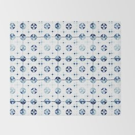 Azulejo I - Portuguese hand painted tiles Throw Blanket