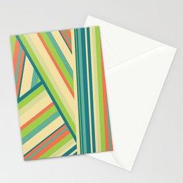 Lime Green Pattern Stationery Cards