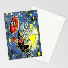 Mama Firefly with her Babies Stationery Cards