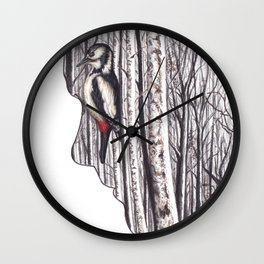 Within by Lars Furtwaengler | Colored Pencil | 2014 Wall Clock