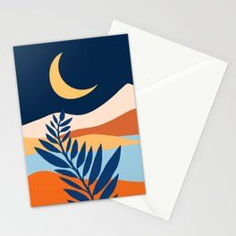 Moon + Night Bloomer / Mountain Landscape Stationery Cards