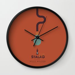 Stalag 17 - Billy Wilder Movie Poster Wall Clock