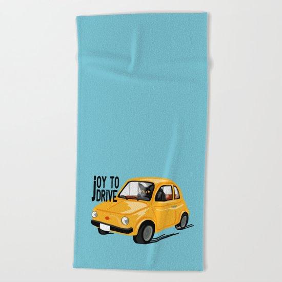 Joy to drive Beach Towel