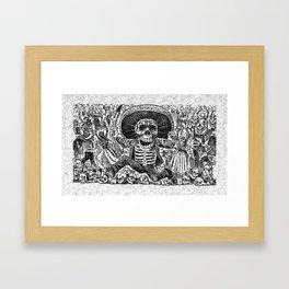 Calavera Oaxaquena by Jose Guadalupe Posada Framed Art Print