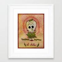 chile Framed Art Prints featuring Al Chile  by Muertitos de Hambre