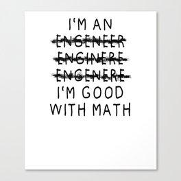 Engineer gift students and graduates diploma Canvas Print