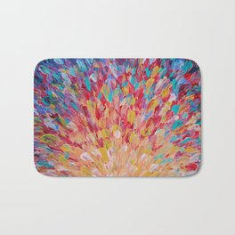 SPLASH - WOW Dash of Cheerful Color, Bold Water Waves Theme, Nature Lovers Modern Abstract Decor Bath Mat