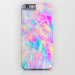 Rainbow Plasma iPhone Case
