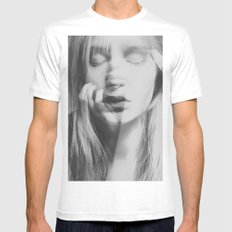 Face White MEDIUM Mens Fitted Tee