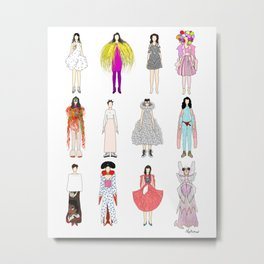 Outfits of Bjork Fashion Metal Print