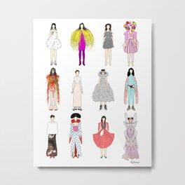 Outfits of Bjork Fashion Metal Print
