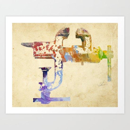 Industrial Clamp Art Print