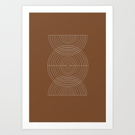 Burnt Orange, Geometric shape Art Print