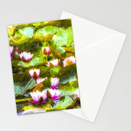 Water Lilys Art Stationery Cards