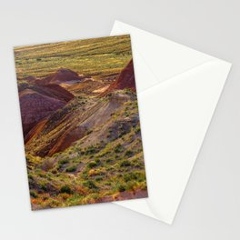 Warm evening light at Painted Desert Stationery Cards
