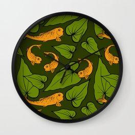 Koi Pond Pattern Wall Clock