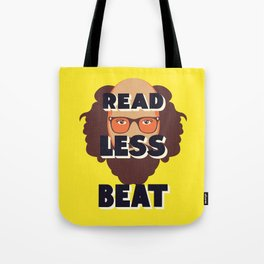Read Less Beat - Allen Ginsberg Tote Bag