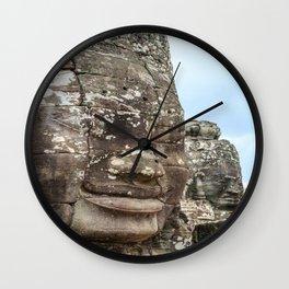 Bayon Temple, Angkor Thom, Cambodia Wall Clock