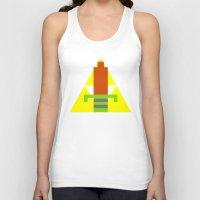 8 bit Tank Tops featuring 8-Bit Hero by Tiny Pixel Designs