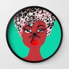Girl with the curlz Wall Clock