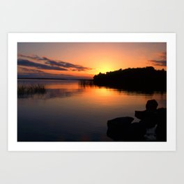 end of a great day Art Print