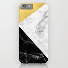 Marble & Gold Collage iPhone 6s Slim Case