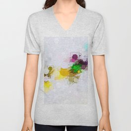 Happy Color Geometrical Pattern Abstract Unisex V-Neck