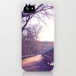 Edinburgh Princes Garden Sunset. iPhone Case