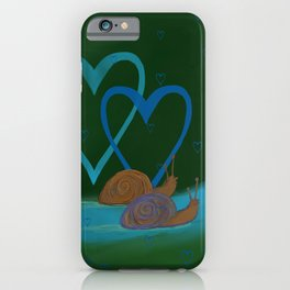 Snail's Valentine slow love iPhone Case