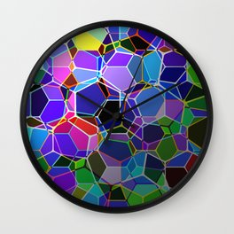 Geometric Genetics - Metallic, abstract, geometric pattern Wall Clock