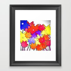 Cheery Abstract bouquet Framed Art Print