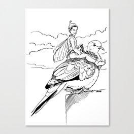 Turtle Dove Fairy Courier Canvas Print