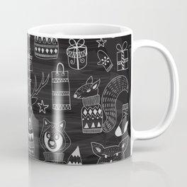 Funny animal on the chalkboard Coffee Mug